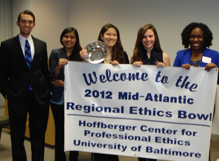 Ethics Bowl 2012 Regionals Victory